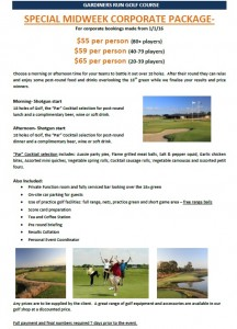 corporate golf special
